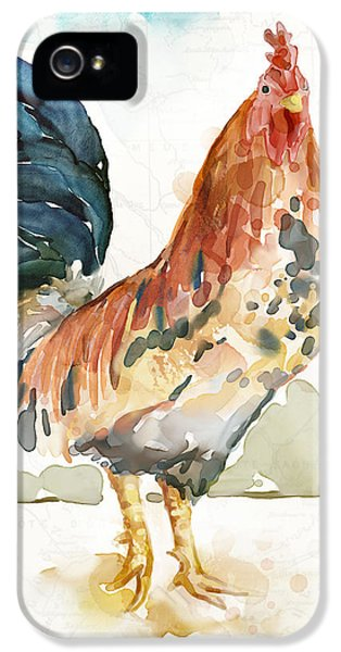 Rooster iPhone 5 Case - Rust Rooster by Mauro DeVereaux