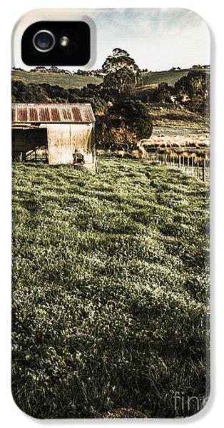Rustic Barn In Lush Green Farmland IPhone 5 Case by Jorgo Photography - Wall Art Gallery