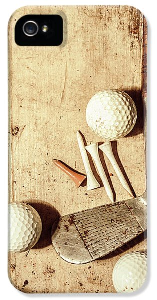 Rustic Golf Club Memorabilia IPhone 5 Case by Jorgo Photography - Wall Art Gallery
