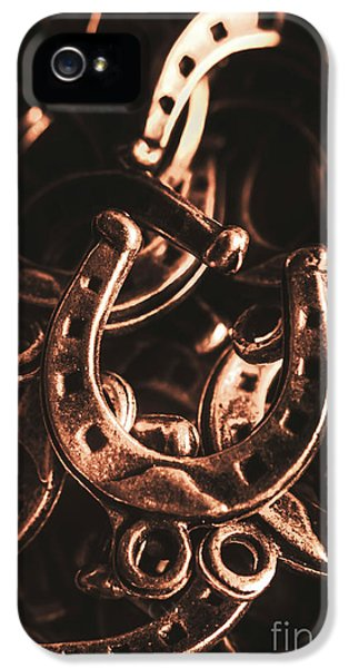 Pendant iPhone 5 Case - Rustic Horse Shoes by Jorgo Photography - Wall Art Gallery