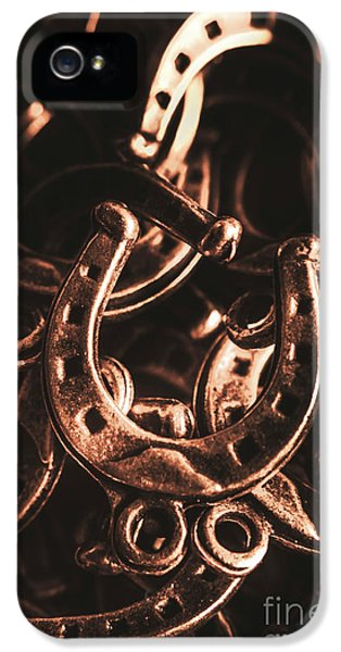 Rustic Horse Shoes IPhone 5 Case by Jorgo Photography - Wall Art Gallery