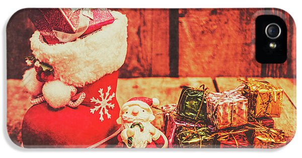 Rustic Xmas Decorations IPhone 5 Case by Jorgo Photography - Wall Art Gallery