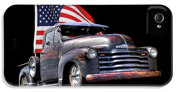 Rusty 1951 Chevy Truck With Us Flag IPhone 5 Case
