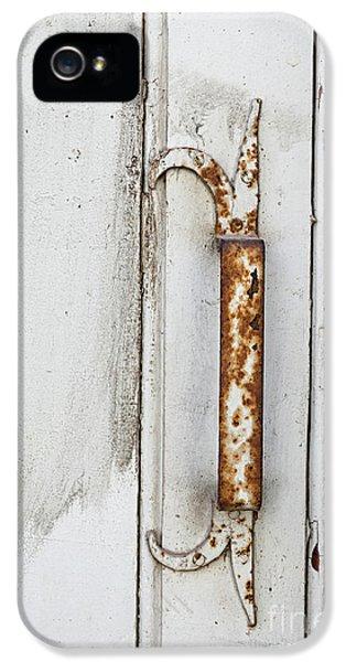 Rusty Handle On White Door IPhone 5 Case