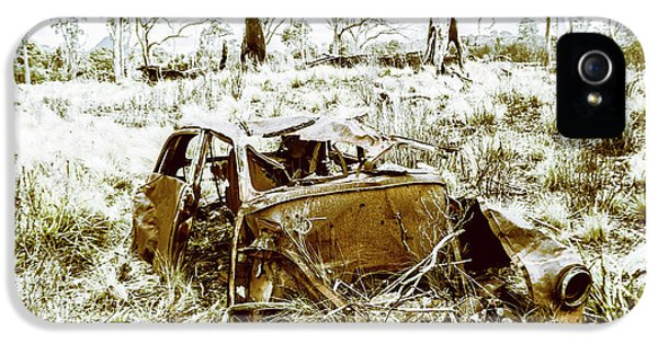 Rusty Old Holden Car Wreck  IPhone 5 Case by Jorgo Photography - Wall Art Gallery