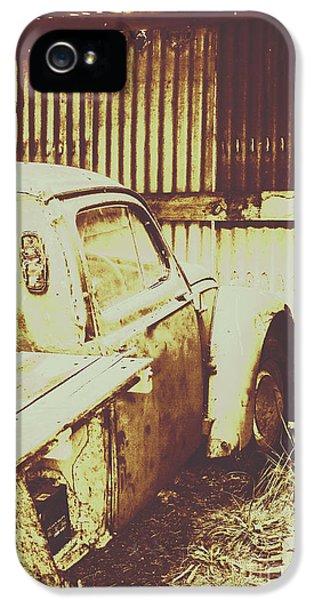 Truck iPhone 5 Case - Rusty Pickup Garage by Jorgo Photography - Wall Art Gallery