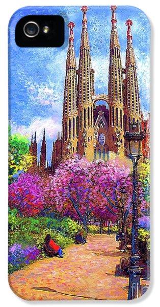Sagrada Familia And Park,barcelona IPhone 5 Case