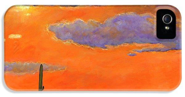 Saguaro Sunset IPhone 5 Case by Johnathan Harris