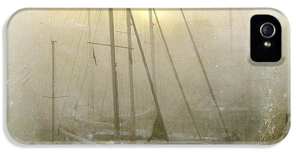 Boat iPhone 5 Case - Sailboats In Honfleur. Normandy. France by Bernard Jaubert