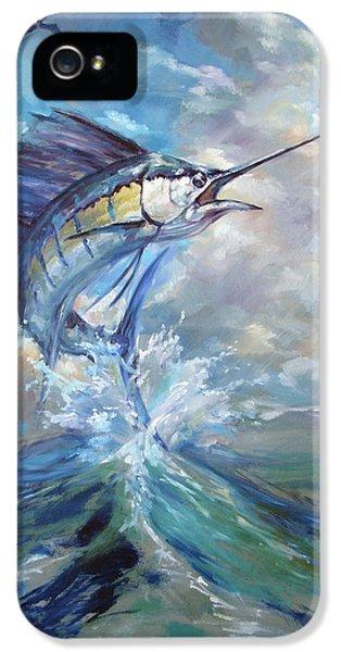 Swordfish iPhone 5 Case - Sailfish And Frigate by Tom Dauria