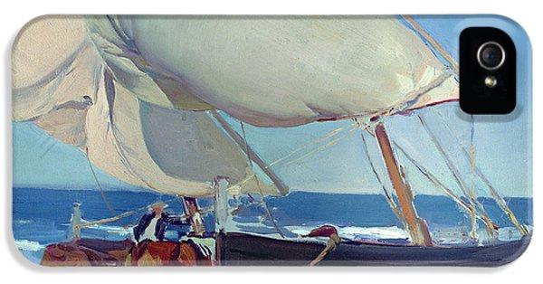 Boat iPhone 5 Case - Sailing Boats by Joaquin Sorolla y Bastida