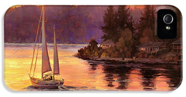 Seattle iPhone 5 Case - Sailing On The Sound by Steve Henderson