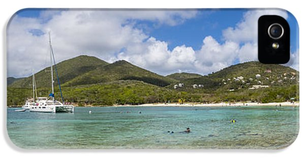 IPhone 5 Case featuring the photograph Salt Pond Bay Panoramic by Adam Romanowicz