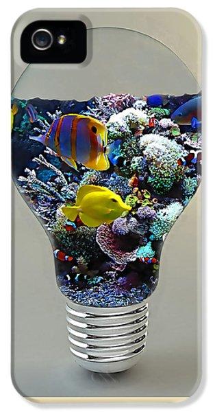 Saltwater Aquarium Light Bulb IPhone 5 Case