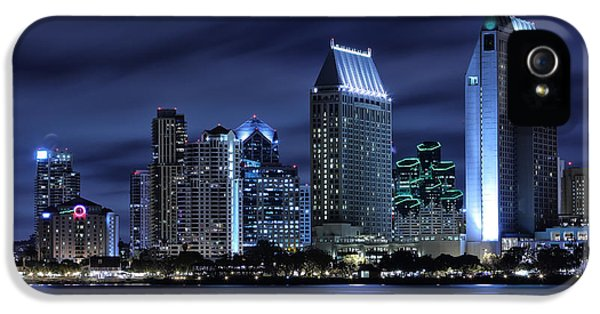 San Diego Skyline At Night IPhone 5 Case by Larry Marshall