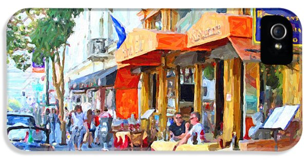 Ristorante iPhone 5 Cases - San Francisco North Beach Outdoor Dining iPhone 5 Case by Wingsdomain Art and Photography