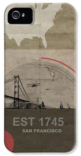 Gate iPhone 5 Cases - San Fransisco iPhone 5 Case by Naxart Studio