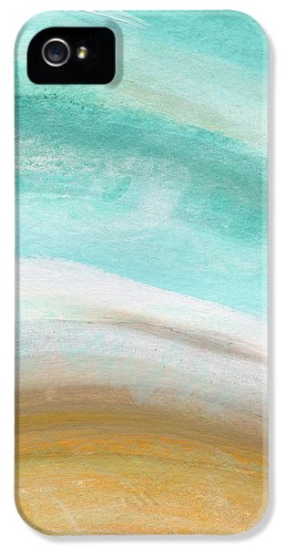 Sand And Saltwater- Abstract Art By Linda Woods IPhone 5 Case by Linda Woods