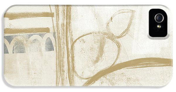Sand And Stone 3- Contemporary Abstract Art By Linda Woods IPhone 5 Case