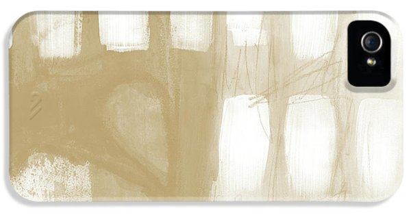 Sand And Stone 4- Contemporary Abstract Art By Linda Woods IPhone 5 Case