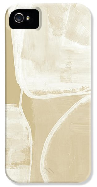 Sand And Stone 5- Contemporary Abstract Art By Linda Woods IPhone 5 Case