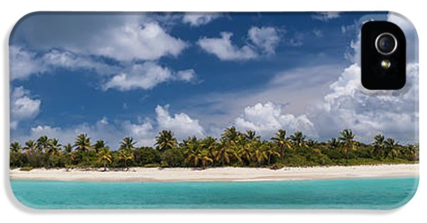 IPhone 5 Case featuring the photograph Sandy Cay Beach British Virgin Islands Panoramic by Adam Romanowicz