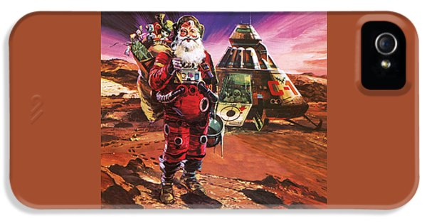 Santa Claus On Mars IPhone 5 Case by English School