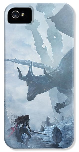 Knight iPhone 5 Case - Santa Georgina Vs The Dragon by Guillem H Pongiluppi