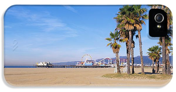 Santa Monica Beach Ca IPhone 5 Case by Panoramic Images