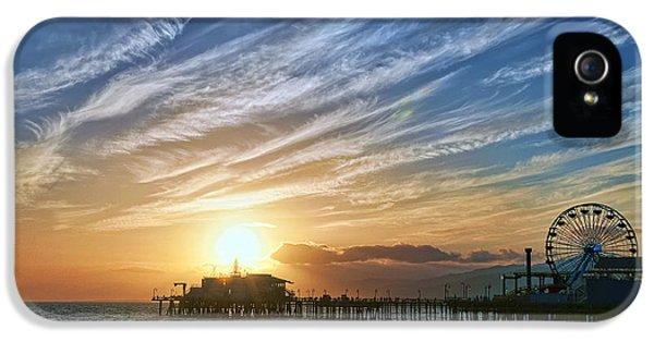 Santa Monica iPhone 5 Case - Santa Monica Pier by Eddie Yerkish