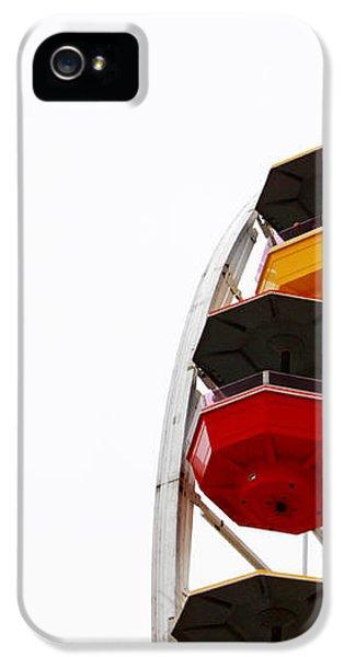 Santa Monica Pier Ferris Wheel- By Linda Woods IPhone 5 Case by Linda Woods