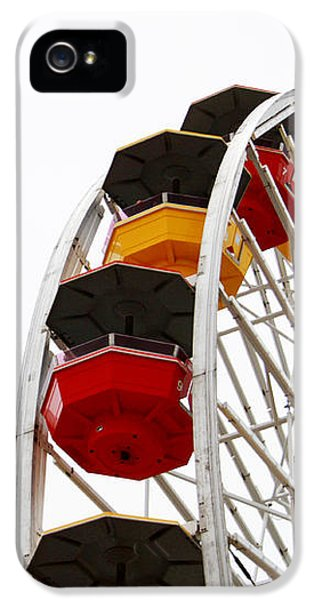 Santa Monica Pier Ferris Wheel- By Linda Woods IPhone 5 Case by Linda Woods