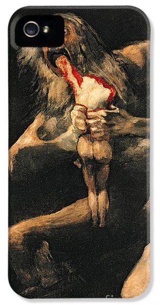 Saturn Devouring One Of His Children  IPhone 5 Case by Goya
