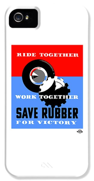 Save Rubber For Victory - Wpa IPhone 5 Case