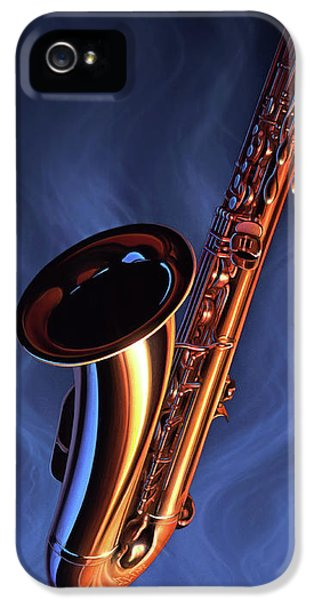 Saxophone iPhone 5 Case - Sax Appeal by Jerry LoFaro