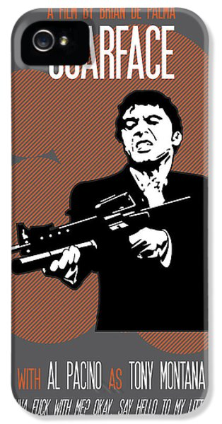 Scarface Poster Tony Montana Print Quote - Say Hello To My Little Friend IPhone 5 Case