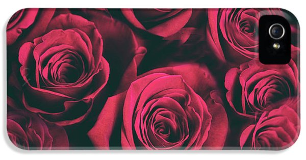 IPhone 5 Case featuring the photograph Scarlet Roses by Jessica Jenney
