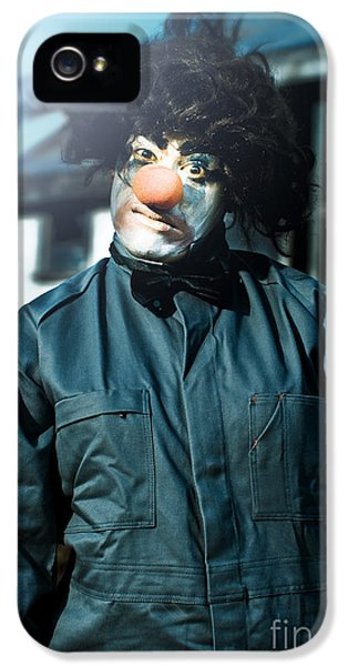 Scary Clown With Coat IPhone 5 Case