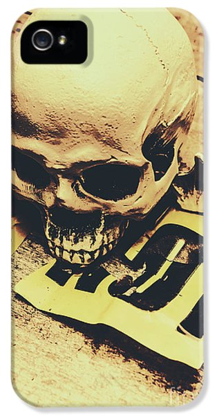 Scary Human Skull IPhone 5 Case by Jorgo Photography - Wall Art Gallery