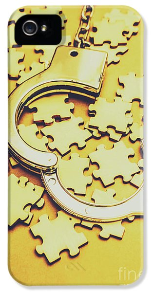Scattered Clues In A Unsolved Investigation  IPhone 5 Case by Jorgo Photography - Wall Art Gallery