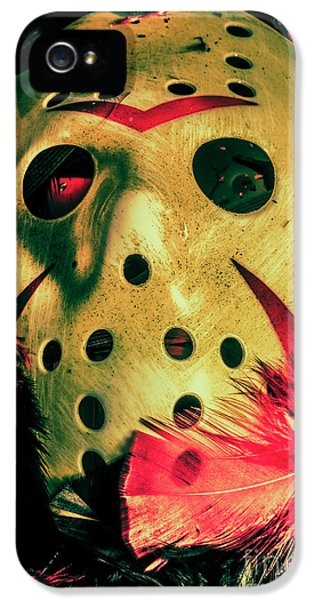 Hockey iPhone 5 Case - Scene From A Fright Night Slasher Flick by Jorgo Photography - Wall Art Gallery