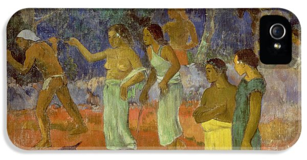 Scene From Tahitian Life IPhone 5 Case by Paul Gauguin