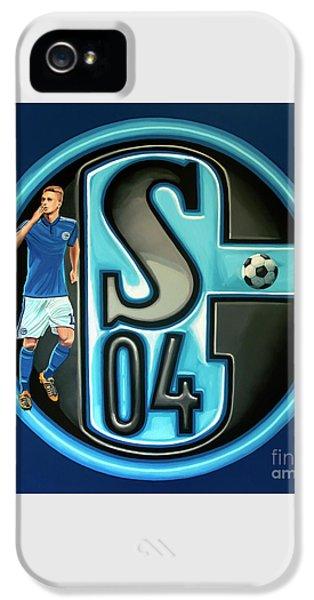 Schalke 04 Gelsenkirchen Painting IPhone 5 Case by Paul Meijering