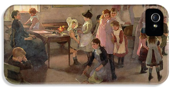 School Is Out IPhone 5 Case by Elizabeth Adela Stanhope Forbes