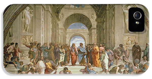 School Of Athens From The Stanza Della Segnatura IPhone 5 Case by Raphael