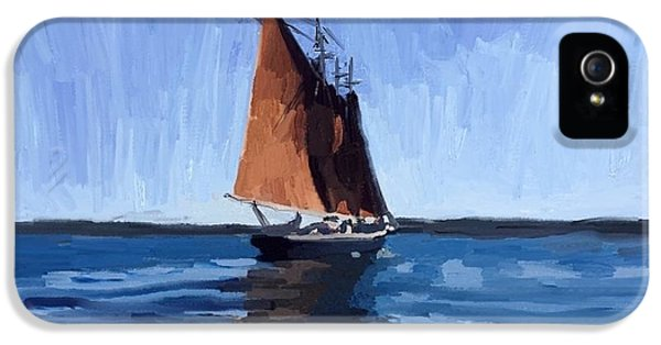 Schooner Roseway In Gloucester Harbor IPhone 5 Case by Melissa Abbott
