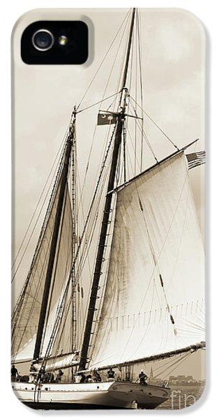 Schooner Sailboat Spirit Of South Carolina Sailing IPhone 5 Case by Dustin K Ryan