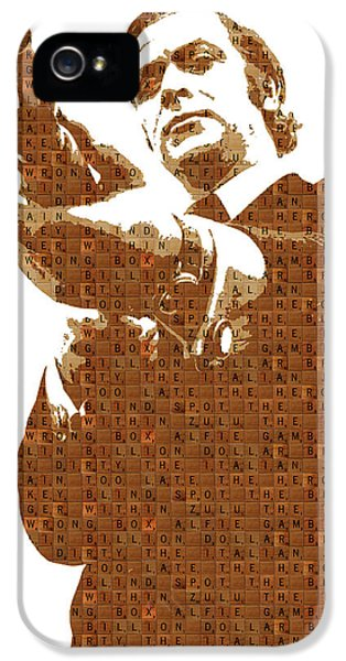 Scrabble Get Carter IPhone 5 Case by Gary Hogben