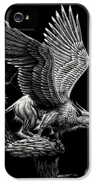 Screaming Griffon IPhone 5 Case by Stanley Morrison