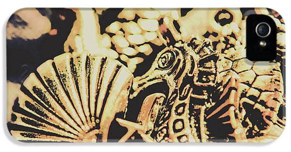 Seahorse iPhone 5 Case - Sea Abstract From The Nautics  by Jorgo Photography - Wall Art Gallery
